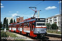 1131-1996-07-21-1-Südstadt (steffenhege) Tags: hallesaale strasenbahn streetcar tram tramway ckd t4dc 1131 havag