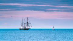 Sublime Encounter (theReedHead) Tags: thereedhead milwaukeephotographers wisconsinphotographers sonya7rii sonya7rmarkii sony70300mmf4556 sonycameras sonyemount sonymirrorlesscameras sonyzoomlens cloudscapes seascapes sailingscenes sailboats sailingships sailingvessels threemastedschooner realism realistic atmospheric serene milwaukeelakefront milwaukeewisconsin