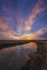 Baylands Sunrise (CraDorPhoto) Tags: canon5dsr landscape water reflection sunrise dawn morning sky clouds colour usa california