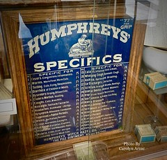 Humphreys' Specifics-Everything For What Ails You. (Carolyn Arzac) Tags: antique hemphreysspecifics cabinet medicine midvale utah nikon coolpix