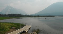 Banff National Parkway (Mr. Happy Face - Peace :)) Tags: art2018 banff alberta canada benchmonday canadaparks rockies rivers lakes forest trees monday wildfires bc smokey