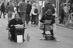 Poets For Hire (sidheashe) Tags: neworleans streetphotography people blackandwhite poets art