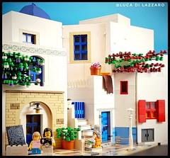 Meanwhile somewhere in Greece .... (Luca Di Lazzaro) Tags: greece islandsofgreece moc diorama legoarchitecture brickarchitecture bricks