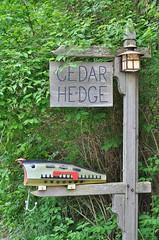 Nice mailbox - Door County, Wisconsin (stevelamb007) Tags: wisconsin doorcounty mailbox fishing lure stevelamb nikon baileysharbor nikkor 50mmf18 d90 cedarhedge