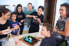 Jethro Turns Twelve 24 (C & R Driver-Burgess) Tags: boy birthday cake minecraft preteen children class girls teacher friends family knife sit cut candles lit blow love tamn tamron tamronspaf2875mmf28xrdildasphericalif