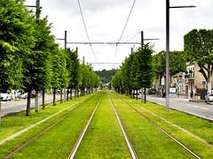 Tramway in Bordeaux (poffuomo) Tags: tram tramway lines green bordeaux infinite