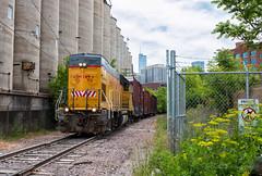 Urban Works (Wheelnrail) Tags: up union pacific upy 712 gp15t local locomotive railroad rail road chicago tribune chi town downtown loop emd boxcar industrial urban grit rails train trains river west concrete silo
