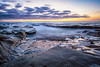 Surreal Sunset (Amazing Aperture Photography) Tags: sea ocean water longexposure nature coast westcoast pacific pacificocean shore tide dark sunset horizon landscape beautiful sandiego california lajolla tidepools clouds rockformations erosion nikon nikond800 surreal