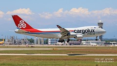 LX-YCV Cargolux Italia Boeing 747-4R7F (Nick Air Aviation Photography) Tags: img1351 milanmxpairport lxycvcargoluxitaliaboeing7474r7f aereoportomilanomalpensa atterraggio landing cargoaircraft aviationphotography 6h2201