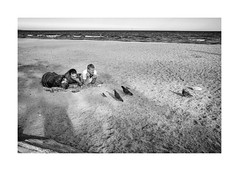From eyes to eyes (Jan Dobrovsky) Tags: leicaq beach odesa spring reallife people birds blackandwhite outdoor monochome ukraine rest document