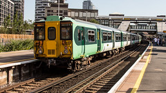 455821 (JOHN BRACE) Tags: 1982 brel york built class 455 emu 455821 seen east croydon station southern livery