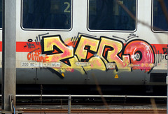 traingraffiti (wojofoto) Tags: graffiti treingraffiti traingraffiti trein train nederland netherland holland wojofoto wolfgangjosten zero db