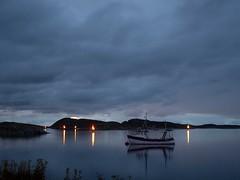 P2270748 (Aickaa) Tags: sea fishing boat norway night lights reflection nature ocean clouds rain heavy blue