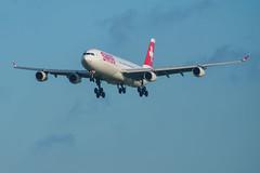 Swiss HB-JMA Airbus A340-313 | PVG (Kuma Pictures) Tags: aviation aircraft airbus a340 swiss pvg shanghai landing hbjma