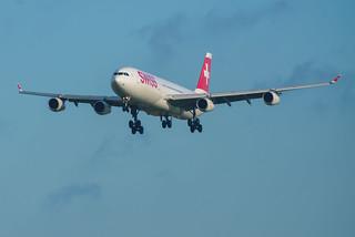 Swiss HB-JMA Airbus A340-313 | PVG