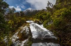 An appointment with the gods (jenni 101) Tags: cradlemountain tasmania footsteps landscape nikond7200 photographybyjen snow