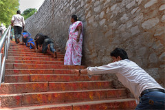 Faith & Strength, Mokala Parvatham (vedanshulad) Tags: faith hindu strength steps peoples stairs thirumala tirupati spiritual hopes hope belief