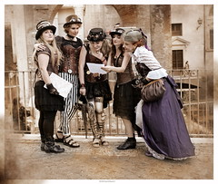 OKIMG_4322 (taymtaym) Tags: cosplay cosplayers costumes costumi costume cosplayer steampunk steam punk girl girls rome roma 2018 treasure hunt caccia al tesoro