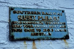 Polite steam engines (violetchicken977) Tags: notice metalsigns railwaysigns steamtrains rust