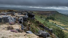 Along the Edge - Curbar (gavsidey) Tags: curbar edges edge rocks derbyshire clouds dark ngc d500