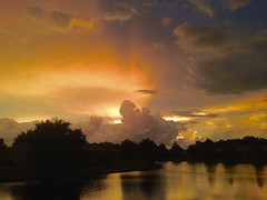 just got back from a walk. (lada/photo) Tags: sunset sky skyandclouds skyandwater floridasunset summerskies ladaphoto