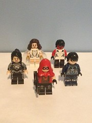 Rogueverse Justice Titans (Half the Roster) (Enøshima) Tags: justice titans arsenal roy harper donna troy nightwing dick grayson john blake mary marvel beast boy garfield logan rogueverse