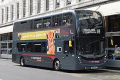 NXWM 6822 @ Corporation Street, Birmingham (ianjpoole) Tags: national express west midlands alexander dennis enviro 400mmc sn66wef 6822 working platinum route x4 corporation street birmingham minworth asda