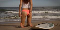 surf fun with Nicole (image.magician.) Tags: dreams portrait art sunset beach water sky red babe feminine erotic sensual surfer girl light wet female love cute beauty bottoms lingerie mtrz michaeltross imagemagician