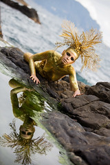 "TEATRONATURA ""Gold in the Sea"" (valeriafoglia) Tags: yellow gold golden glitter creative composition capture colors creature sea stylist soft wild photo photography pretty portrait beautiful beauty model makeup magic art atmosphere amazing fantasy water"