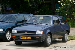 Mitsubishi Colt - 1983 (timvanessen) Tags: kh68sn 2018 youngtimer event amsterdam automaat automatic aut