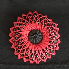 RIBBON BROOCH (JOHN MORGANs OLD PHOTOS.) Tags: hand made by john morgan ribbon brooch