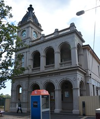 Second Dunolly Post and Telegraph Office, Victoria (contemplari1940) Tags: dunolly post telegraph war memorial honour roll henrybastow architect renaissance revival tower gold rush goldfields clock wwii betbet shire