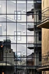 35 (roberke) Tags: gebouw building balkons balcony windows ramen vensters stairs traphal trappen reflections reflectie architecture architectuur polen krakow outdoor buiten