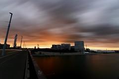 The Colours Strike Back ([GavinRoberts]) Tags: novartiscampus sunset longexposure hoya nd 1000 river rhine rhein basel