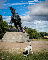 20180730-IMG_1156 Terry and the Horse (susi luard 2012) Tags: terry w2 dog gardens kensington london uk