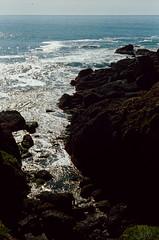 Pacific Ocean (bior) Tags: leicam3 portra160nc summicron 35mmfilm expiredfilm rangefinder pacificocean pacificcoasthighway shore rocks coast ocean