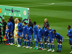 Leicester City line up (lcfcian1) Tags: manchester united old trafford leicester city lcfc mufc epl bpl premier league opener sport football england stadium manchesterunited leicestercity manchesterunitedvleicestercity oldtrafford kasperschmeichel wesmorgan harrymaguire benchilwell adriensilva wilfrdndidi