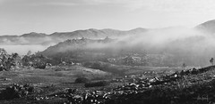 Pleasant foggy morning (RuiFAFerreira) Tags: beauty bw black blackwhite canon exterior ef50mmf18ii fog light landscape mood monochromat monochrome gerês national portugal park panorama nature rocks mountains white