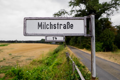 Milky Way (CamOnPictures) Tags: milky way milchstrase road sign street address agriculture milk german galactic astronomy white