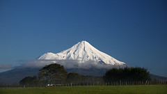 the silent volcano (Paul J's) Tags: taranaki mountain volcano landscape mttaranaki winter snow climieroad ngaere