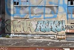 SNAK REACH (TheGraffitiHunters) Tags: graffiti graff spray paint street art colorful pa pennsylvania philly philadelphia bando abandoned building snak reach rooftop
