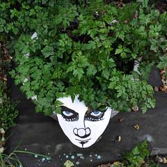 Green hair don't care (id-iom) Tags: aerosolpaint art arts brixton cress england eyes face flamur girl head idiom lady london paint radioactive seed shrubbery stencil streetart superhero uk urban