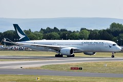 Cathay Pacific Airbus A350-941 B-LRV at Manchester Airport 11/6/18 (CraigPatrick24) Tags: manchester manchesterairport aeroplane plane airplane transport flying flight aviation airliner aircraft jetliner cathaypacific airbus airbusa350 airbusa350941 departure runway takeoff blrv