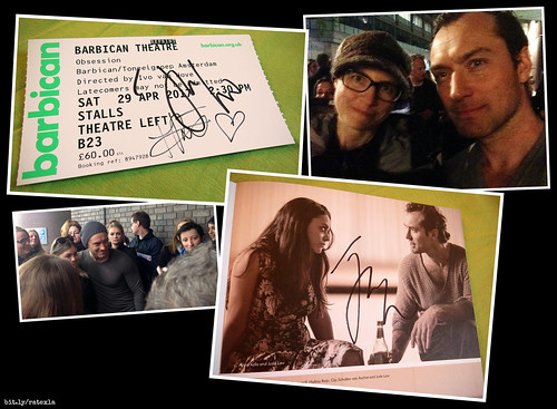 20170428-29_1k I saw Jude Law in ''Obsession'' & got my ticket & programme signed! :D (The other ticket siggy is from Halina Reijn.) | Barbican Theatre, London, England