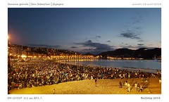 San Sebastian - Plage de la Concha (BerColly) Tags: espagne sansebastian feuartifice nuit night fireworks city ville bercolly google flickr paysbasque
