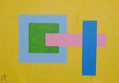 Bauhaus by Jan Theuninck, 2018 (Gray Moon Gallery) Tags: jantheuninck bauhaus lecorbusier yellow blue green rose pink