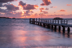 Peaceful Pier (Jared Beaney) Tags: canon6d canon australia photography photographer travel sunset geordiebay rottnest rotto island islands longexposure pier boardwalk jetty ocean bay cove waves westernaustralia