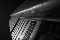 Without orientation.... (radonracer) Tags: architecture frankfurt main monochrome hochhaus reflections fassade