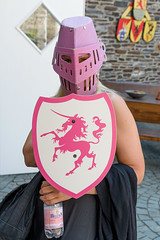 Lady Of The Pink Unicorn (pni) Tags: burg rheinfels castle human being person people woman knight lady dame unicorn shield visir stgoar ger18 germany deutschland pekkanikrus skrubu pni