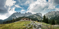 Wilder Kaiser (hjuengst) Tags: wilderkaiser tirol tyrol wochenbrunneralm ellmauerhalt austria österreich mountains berge wolken clouds panorama pano
